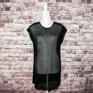 JAMES PERSE Women's sleeveless Sheer Tunic